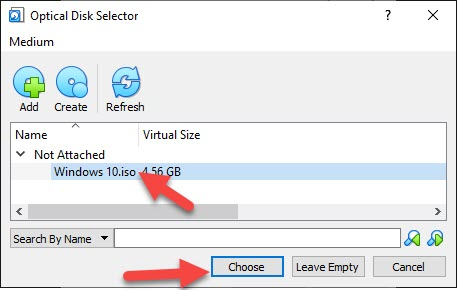 Install Windows 10 on VirtualBox in Windows 10